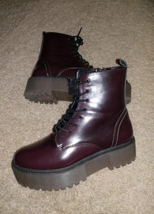 Массивные ботинки на высокой подошве