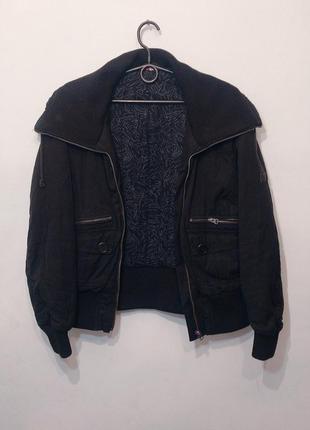 Стильный бомбер женская зимняя куртка h&m m-l