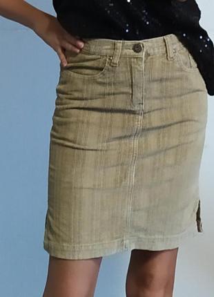 Вельветовая юбка карандаш