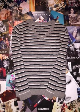 Женский пуловер полосатый