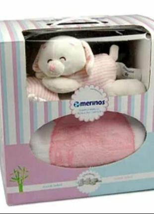 Плед merinos + подушка + іграшка