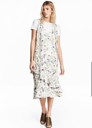 Платье миди сарафан h&m 42