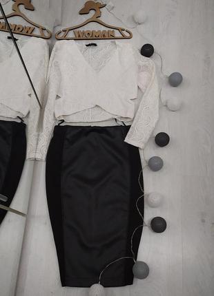 🎄🎆предновогодние скидки🎄шикарная юбка миди с кожаными вставками.🎄