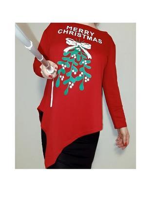 Рождественский джемпер-туника на 16-20 размер
