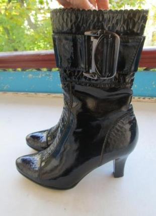 Натуральн лаковые ботинки полусапожки ботильоны турция новые р 37