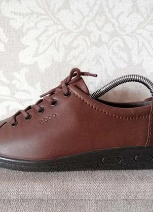 Ecco туфли, полуботинки, оригинал, нат. кожа 38 р. (стелька 24,5)