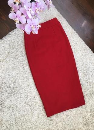 Красная юбочка миди xs размер
