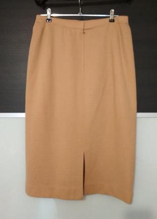 Теплая юбка миди вязаная