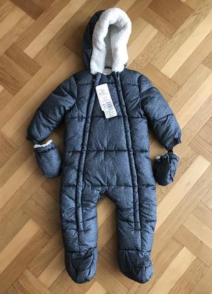 Дитячий зимовий комбінезон f&f 80 см 9-12 м