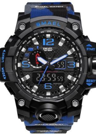 Мужские наручные стильные недорогие военные синие часы по низкой цене