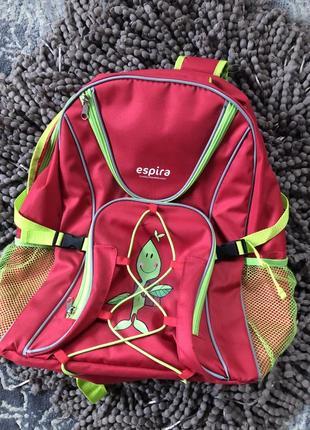 Большой вместительный яркий рюкзак espira ( новый)