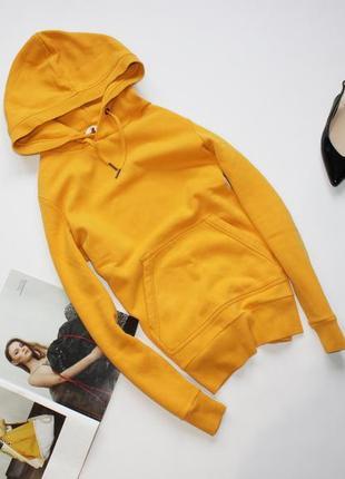 Классное яркое худи с капюшоном кофта желтая хс с 6