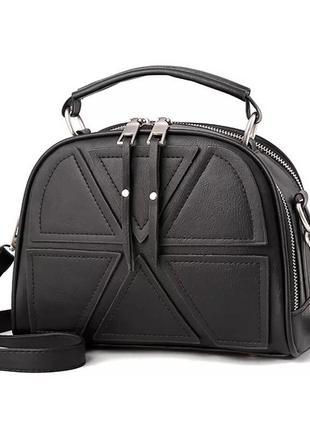 Женская кожаная стильная недорогая кожаная чёрная сумка клатч по низкой цене
