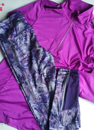 Комплект термо леггинсы и реглан спортивный, одежда для фитнеса