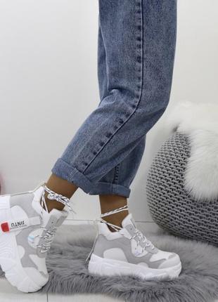Новые шикарные женские демисезонные белые кроссовки