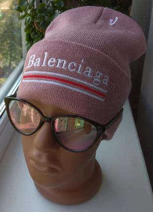 Новая модная шапка бини, темно-розовая