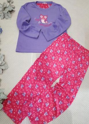 Пижама флисовая женская совушки на размер m-l