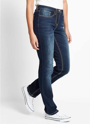 Темно-синие джинсы стрейч slim fit