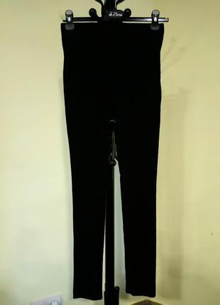 Черные плотные лосины на резинке amisu