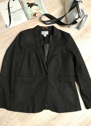 Стильный брэндовый пиджак жакет новый черный