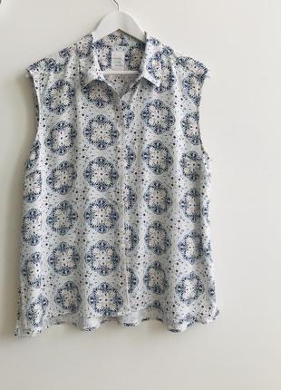 Блуза без рукавов p.l 1+1=3🎁