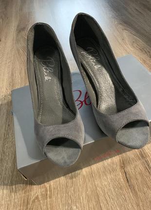 Туфли замшевые blink