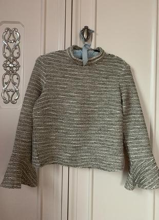 Крутой вязаный свитер /🍂свитшот🍁 в стиле шанель🌹 с воротом zara