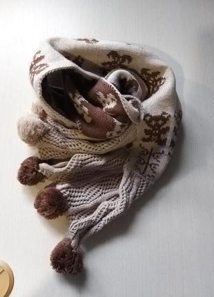 Теплий шарф на 2 сторони