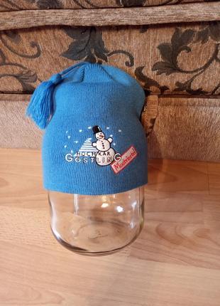 Польский бренд,новая!шикарная,теплая шапка,шапочка,шапка,шапка с балабоном.
