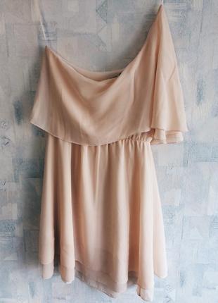 Коктейльное платье от select на одно плечо торг
