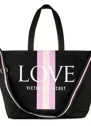 Красивая стильная вместительная сумка victoria secret