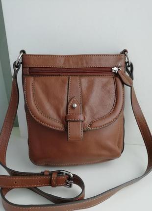 Шкіряна фірмова англійська сумка кросбоді clark's!!! оригінал!!!