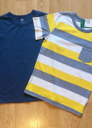 Набор футболок  h&m, фирменная футболка для мальчика, р.6-8 л, 122-128
