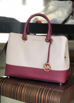 Сумка michael kors savannah color-block saffiano leather кожа оригинал