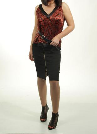 36-38 (s-m) behcetti italia, юбка-карандаш из плотной ткани, на молнии