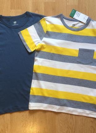 Набор футболок h&m, фирменная футболка для мальчика, р. 8-10 л, 134-140