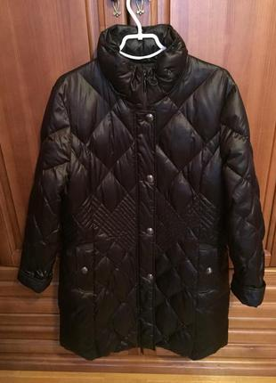 Пальто пуховик gerry weber 54 52 размер 90% пух куртка,большой размер