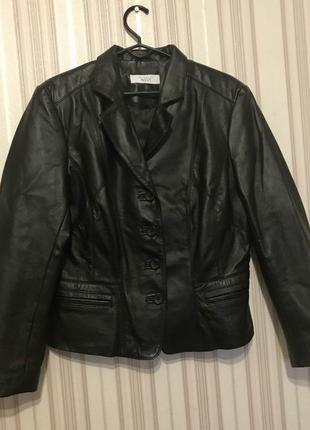 Куртка пиджак натуральная кожа от next