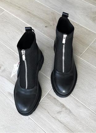 Женские черные ботинки/ ботильоны zara