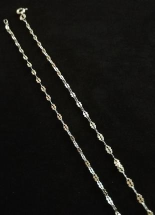 "Серебряная цепочка 45 см # серебро 925"" лот 186"