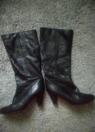 Якісні жіночі  італійські чобітки / кожаные женские сапоги