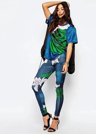 Леггинсы adidas в цветочный принт 12-16 размер.