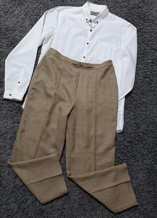 Стильные, бежевые брюки size+🔥