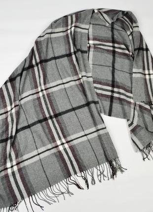 Zara man широкий длинный шарф в клетку шерстяной клетчатый зимний теплый шаль