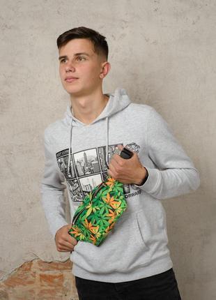 Подростковая бананка с принтом