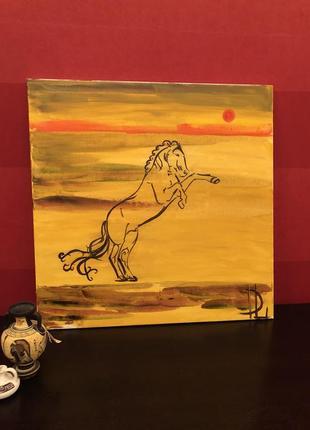 Картина масло, холст,, авторская работа, «успех» прекрасный подарок мужчине