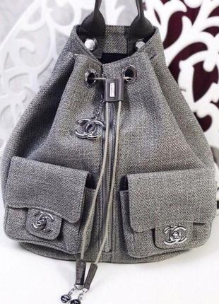 Рюкзак  комбинированный кожаный