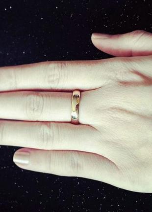 Позолоченное кольцо 750 пробы