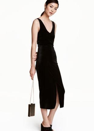 Бархатное платье 48 размер