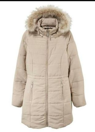 Женская куртка пальто стеганная esmara еврозима